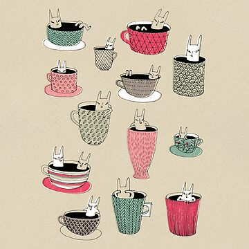 Coffee spirits - animals in cups by surfingsloth