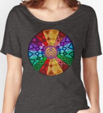 Bassnectar - Rainbow Geometric Mandala - Psychedelic Funkadelic Trippy Festival Hallucinogen  Women's Relaxed Fit T-Shirt
