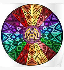 Bassnectar - Rainbow Geometric Mandala - Psychedelic Funkadelic Trippy Festival Hallucinogen  Poster