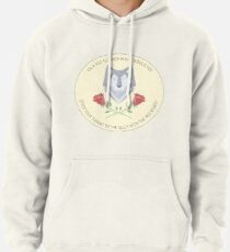 wolf and roses Pullover Hoodie