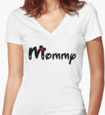 Mommy Minnie mouse Women's Fitted V-Neck T-Shirt
