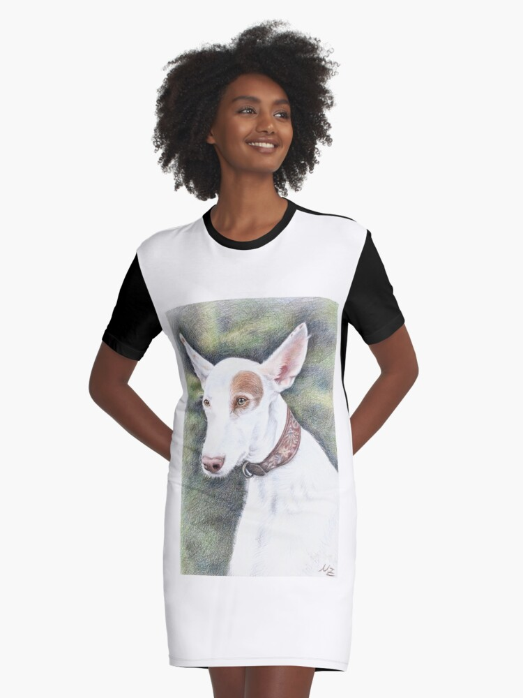 Podenco Ibicenco Graphic T-Shirt Dress Front