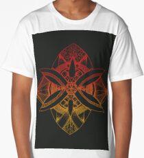 Rose Fire Flower Long T-Shirt