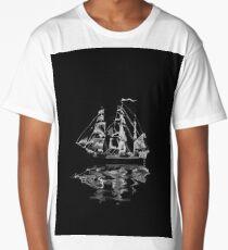Sailing Upon Grim Waters   Ghost Ship Long T-Shirt