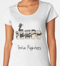 Tofu Fighters Funny Design for Tofu Lovers and Vegans Frauen Premium T-Shirts