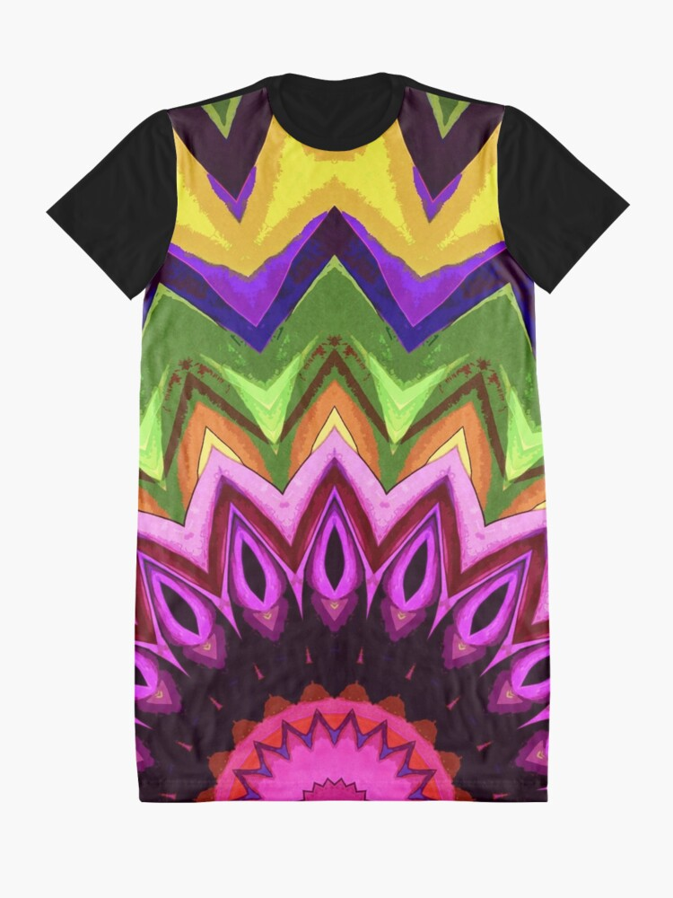 Alternate view of Sun And Flower Graphic T-Shirt Dress