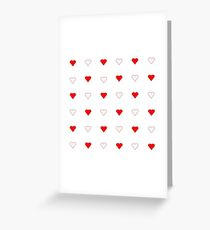 Soft Heart Pattern Greeting Card
