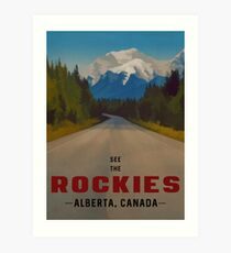 Rocky Mountains Canada Travel Poster Art Print