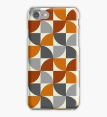 Grey and Orange Mid Century Modern iPhone Case/Skin