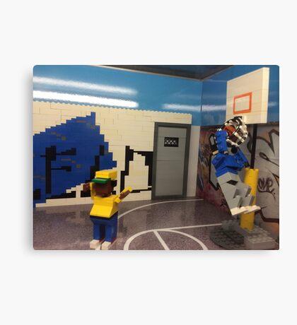 Lego Basketball Court, Lego Rockefeller Center Store, Rockefeller Center, New York City Canvas Print