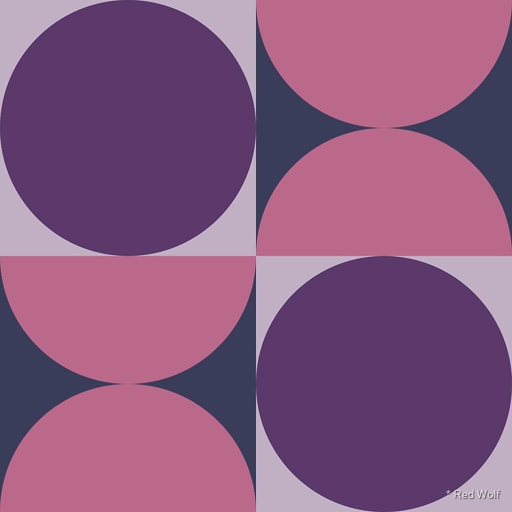Geometric Pattern: Circle: Pink/Purple by * Red Wolf