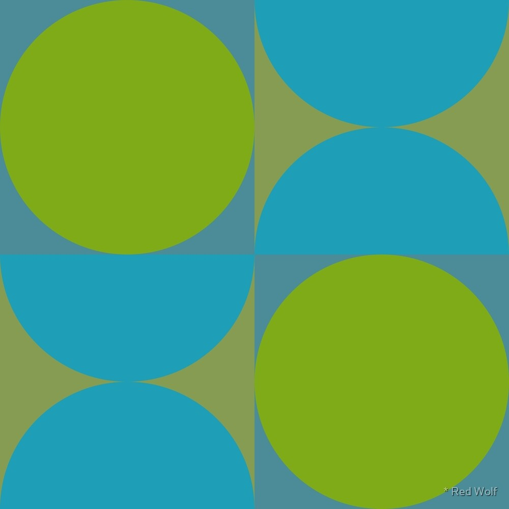 Geometric Pattern: Circle: Blue/Green by * Red Wolf
