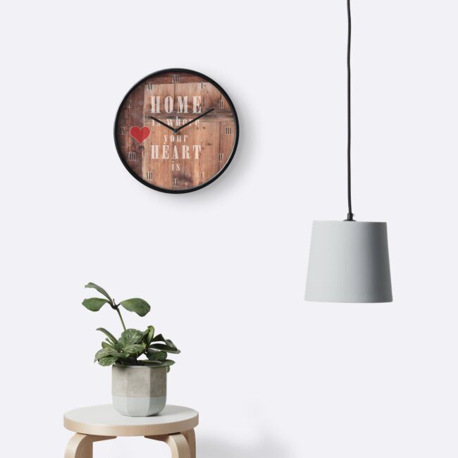 Home is where your heart is - vintage clock by Fanny88Sheepy86