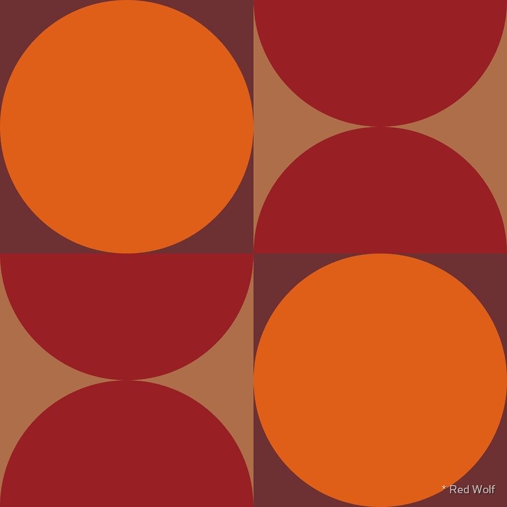 Geometric Pattern: Circle: Red/Orange by * Red Wolf