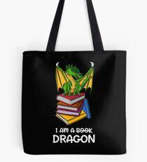 I Am A Book Dragon Funny Book Reading Lover Fantasy Tote Bag