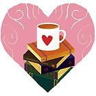 Book and Coffee Valentine by carlydraws