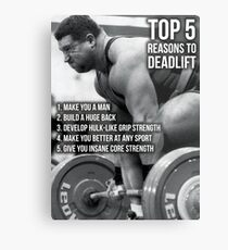 Top 5 Reasons To Deadlift - Back Day Infographic Metal Print