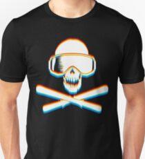 Ski Skulls mit Farbe 3D Unisex T-Shirt