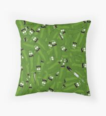 Pickle Rick Extreme Collage (Rick and Morty) Throw Pillow
