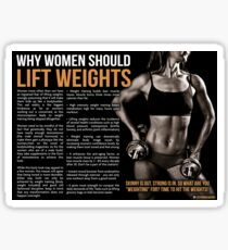 Why Women Should Lift Weights - Fitness Infographic Sticker