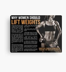 Why Women Should Lift Weights - Fitness Infographic Metal Print