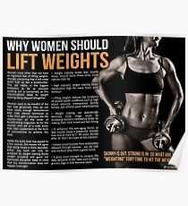 Why Women Should Lift Weights - Fitness Infographic Poster