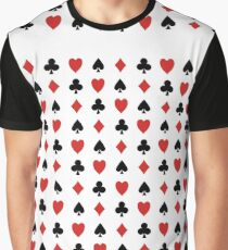 Playing Cards Symbol Pattern Graphic T-Shirt