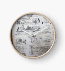 Vintage Car data sheet 1939 Jaguar SS-100 Clock