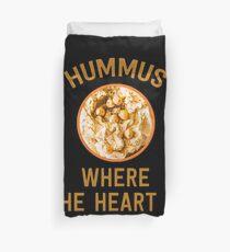 Hummus, wo das Herz ist - lustiges israelisches Essen Bettbezug