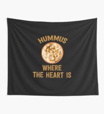 Hummus, wo das Herz ist - lustiges israelisches Essen Wandbehang