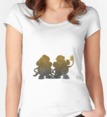 Potatoes Inspired Silhouette Women's Fitted Scoop T-Shirt