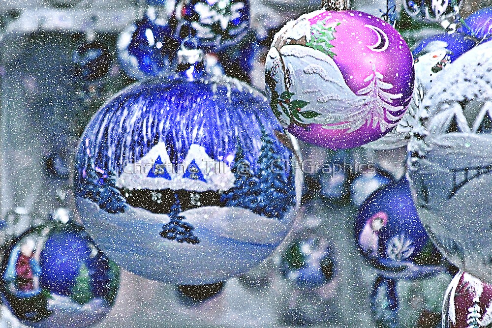 Stylish Christmas Ornaments by Christine Till  @    CT-Graphics
