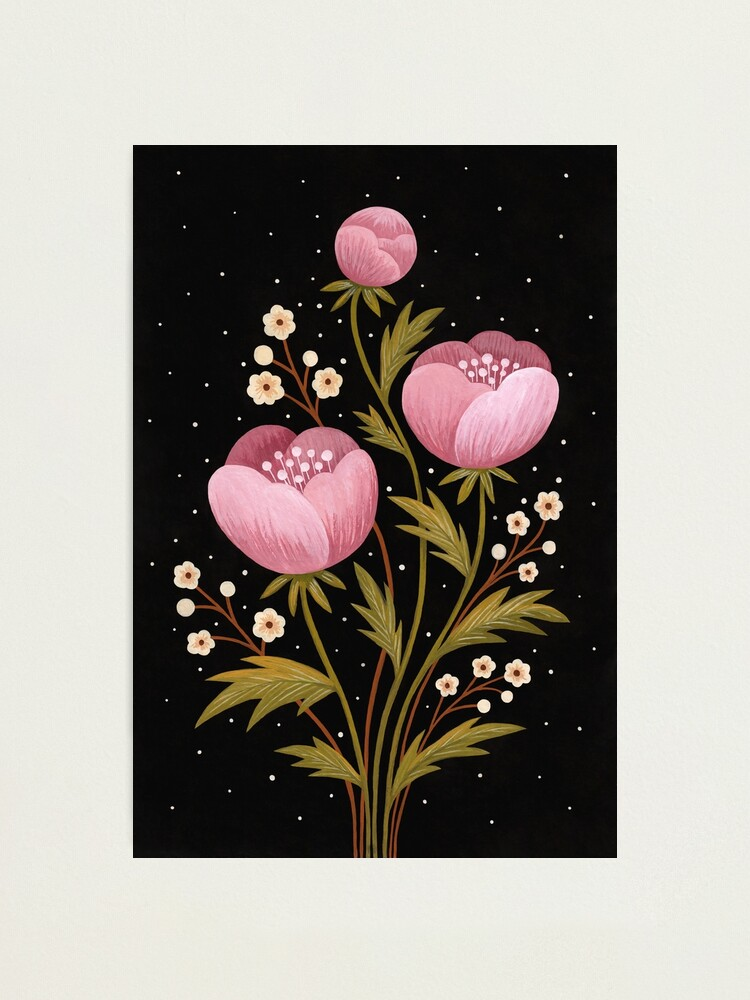 Alternate view of Blooms in the dark Photographic Print