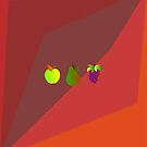 Apple Pear Grapes by culturedarm