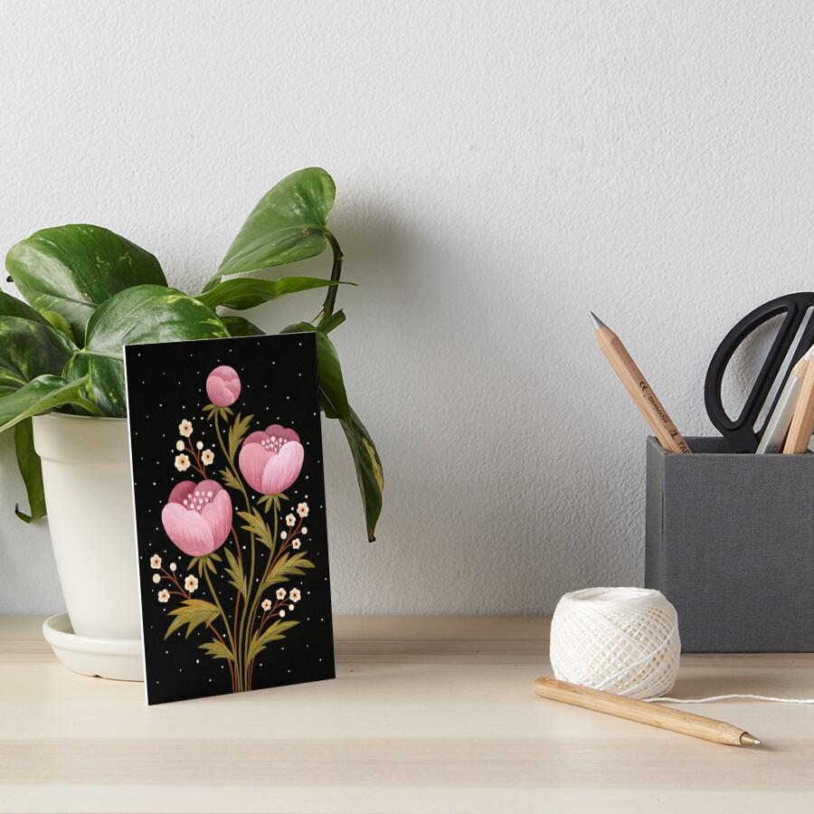 Blooms in the dark Art Board Print