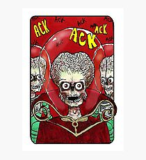 Villain Clans - Martians from Mars Attacks Photographic Print