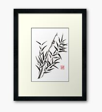 No doubt bamboo sumi-e painting Framed Print