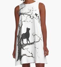 Dangerous conversations sumi-e painting A-Line Dress
