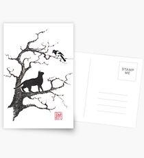 Dangerous conversations sumi-e painting Postcards