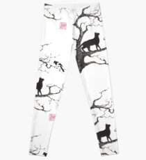 Dangerous conversations sumi-e painting Leggings