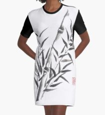 No doubt bamboo sumi-e painting Graphic T-Shirt Dress