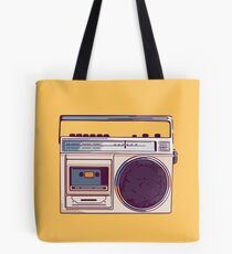 Retro Radio Boombox Tote Bag