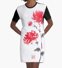 Royal pair sumi-e painting Graphic T-Shirt Dress