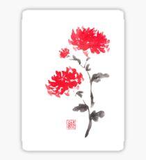Royal pair sumi-e painting Sticker