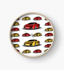 Supercar Lamborghini Pattern Clock