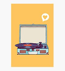 Blue Vinyl Record Player Photographic Print