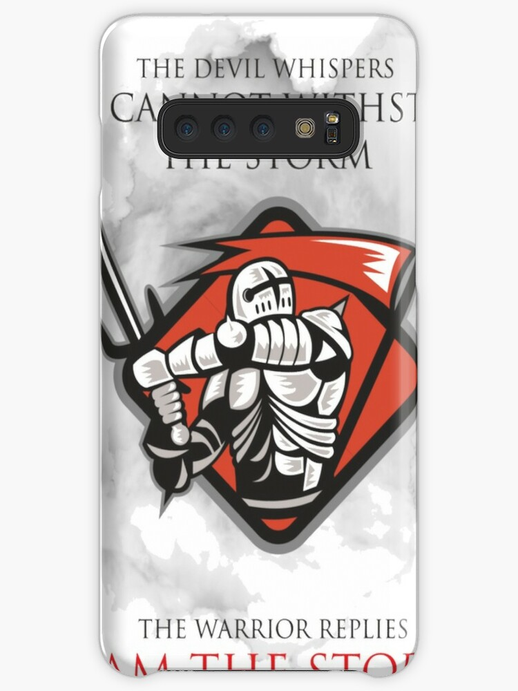 'Knights Templar Medieval I Am The Storm T-Shirt ' Case/Skin for Samsung  Galaxy by MYCUPOFT
