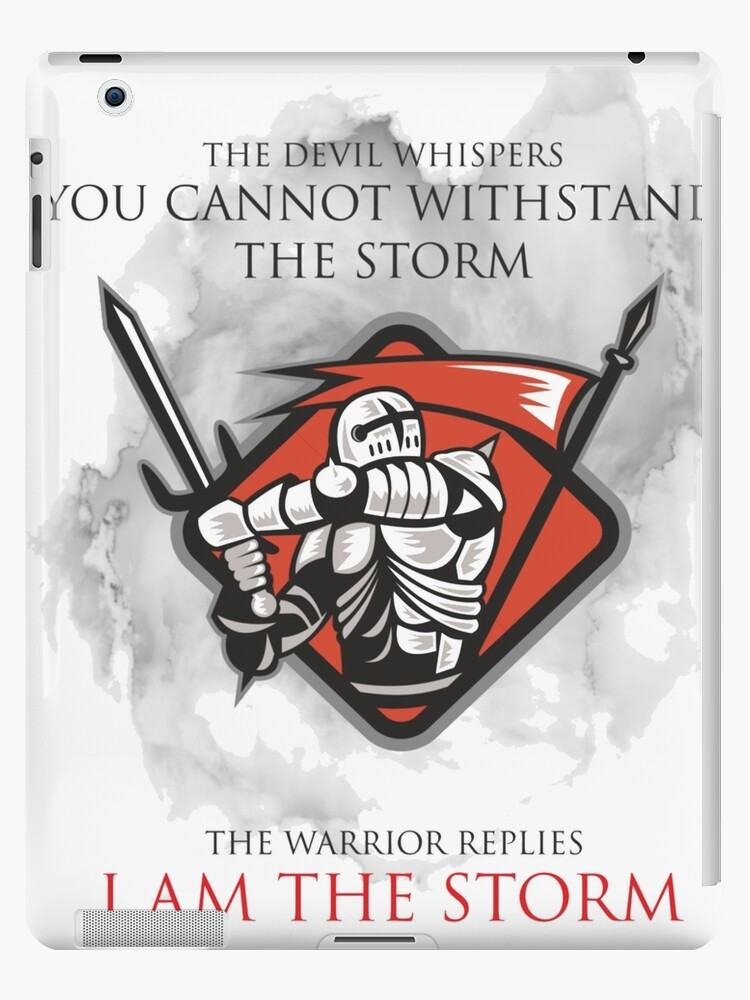 'Knights Templar Medieval I Am The Storm T-Shirt ' iPad Case/Skin by  MYCUPOFT