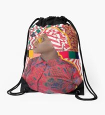 Color Splash Remix Drawstring Bag