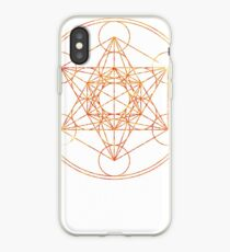Metatron's Cube [The Red Moon] | Sacred Geometry iPhone Case